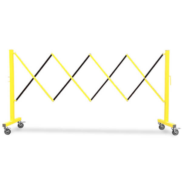 accordion-expanding-barricade-fm110-yellow