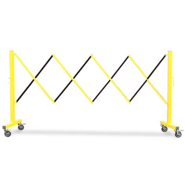 accordion-expanding-barricade-fm110-yellow