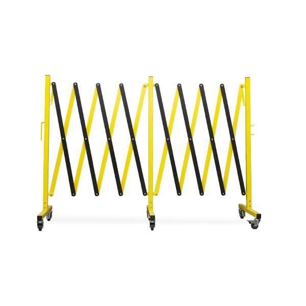 accordion-expanding-barricade-fm160-yellow