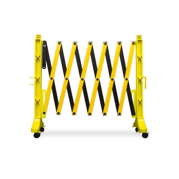 accordion-expanding-barricade-master110-yellow