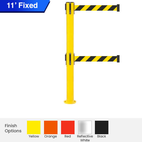 fixed-Safety-twin-Retractable-Belt-Barrier-250-3