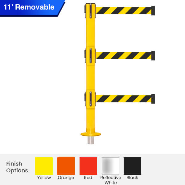 removable-Safety-triple-Retractable-Belt-Barrier-3