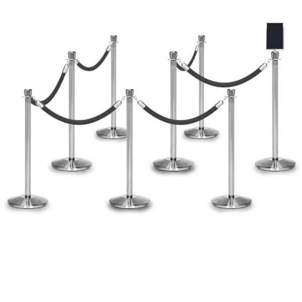 rope barriers polished stainless 8 pack