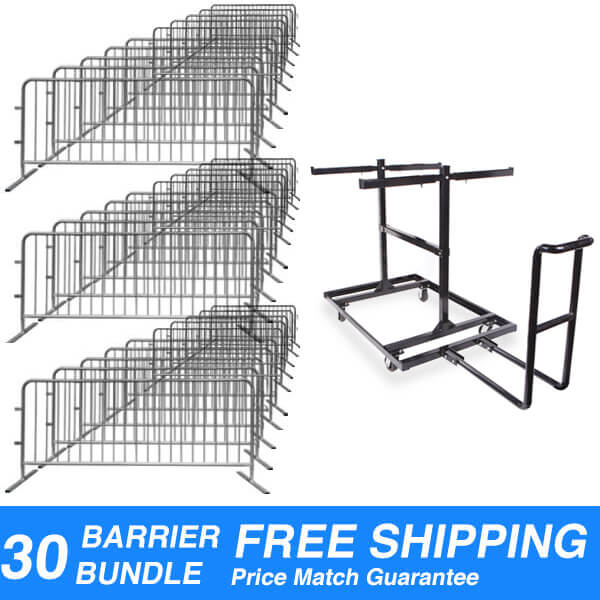 steel-interlocking-crowd-control-barriers-barricades-30pack-and-cart