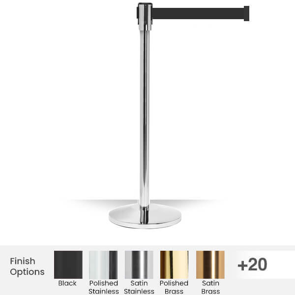 thin-slim-stanchion-qm200-retractable-belt-barrier-11foot-belt=polished-stainless-steel