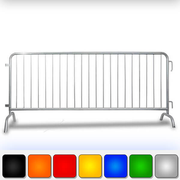 Heavy Duty Steel Barricades With Bridge Bases-Crowd Control Barriers 8.5ft