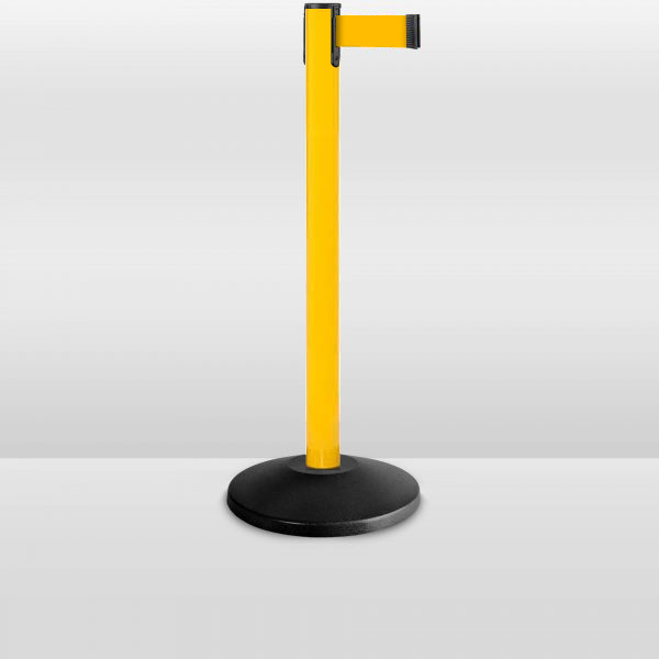 value-serier-yellow-stanchion-barrier-YW