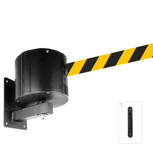 wallmounted retractable belt-barrier YB